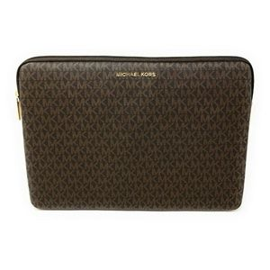 Michael Kors Connie Padded Laptop Case Brown Acorn